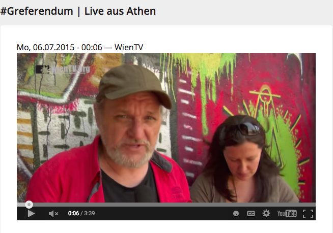 WienTv: #Greferendum | Live aus Athen